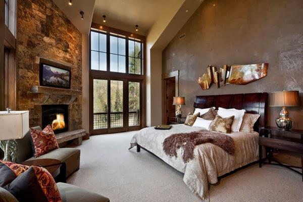 Dise o de dormitorios con chimenea dentro decorar tu for Chimeneas tradicionales