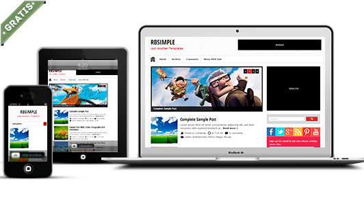 rbsimple free responsival responsive blogger template