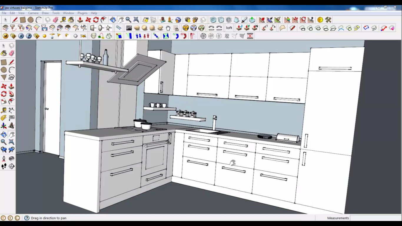 Sketchup tutorial course 02 part 01 introduction architecture design sketchup dwg tutorials - Kitchen design tutorial ...