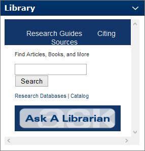 Library Widget in Desire2Learn