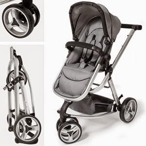 Sillita de paseo bebé gris Tec Take y plegado