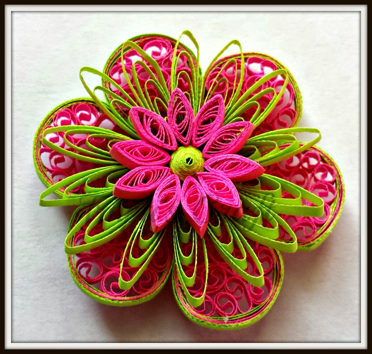Trupti 39 s craft paper quilling flowers for Quilling how to