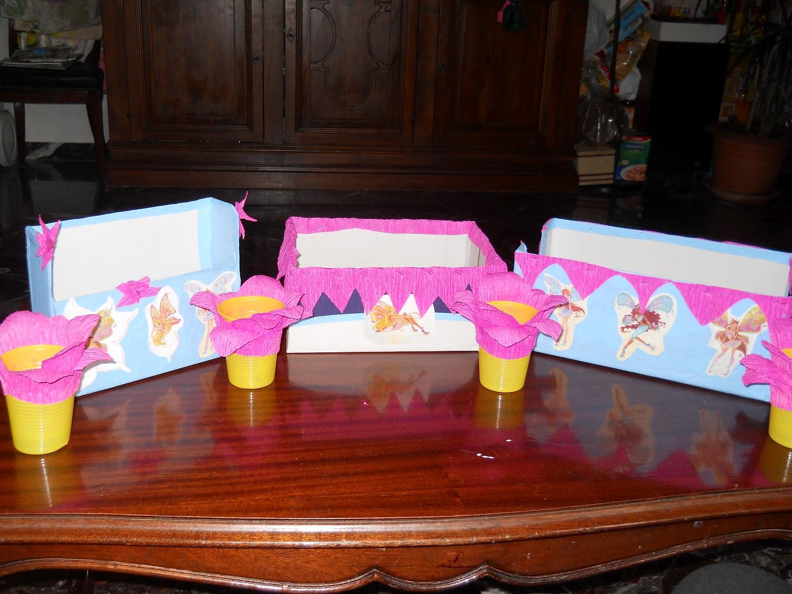 Decorazioni Per Feste Di Compleanno Bambini Fai Da Te : Festa per bambini decorare la tavola a tema winx bricolage
