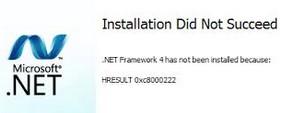 Cara Mengatasi Gagal Instal Netframework 3.5, 4.0 dan 4.5 Yang Muncul Eror Code HRESULT 0xc8000222