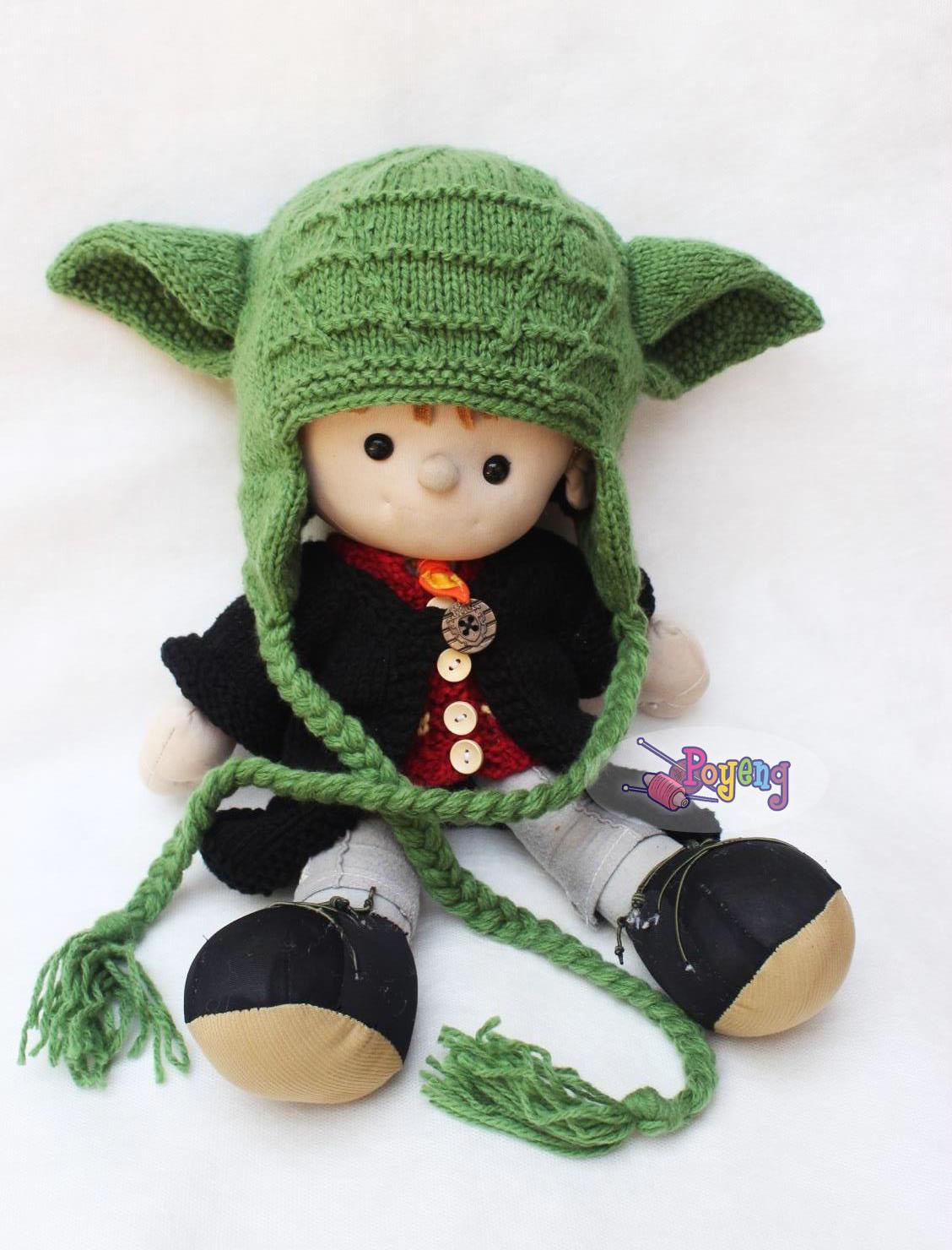 Ajeng Belajar Merajut Wrinkle Yoda Knitting Pattern