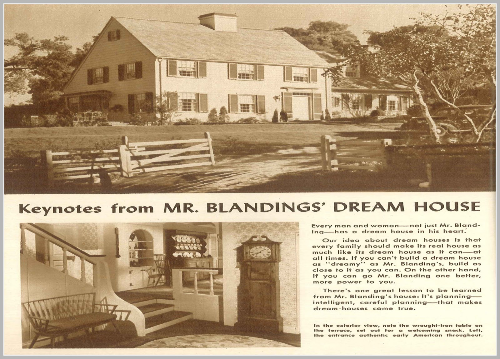 Everythingcroton mr blandings builds his dream house for Dream house plan
