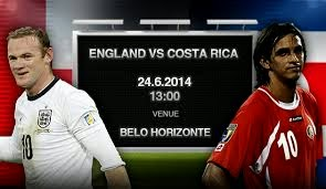 Costa Rica vs. England live 2014 FIFA WORLD CUP