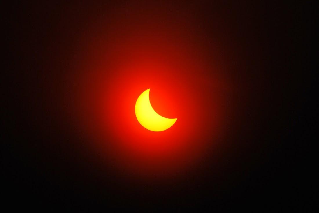 Солнечное затмение в Лысьве