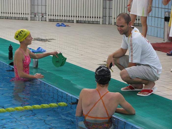 how to swim faster triathlon