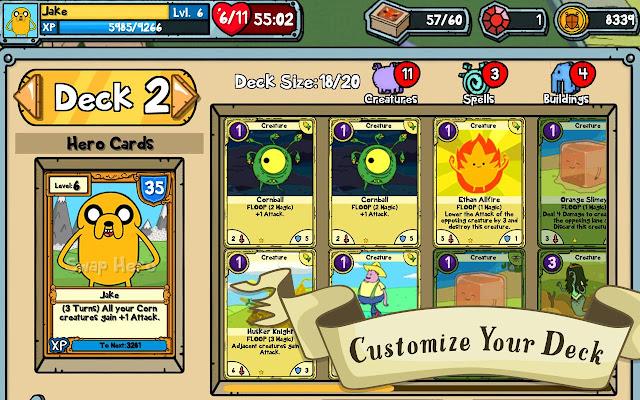 Card Wars - Adventure Time v1.5.0 Apk + Datos SD Mod [Dinero]