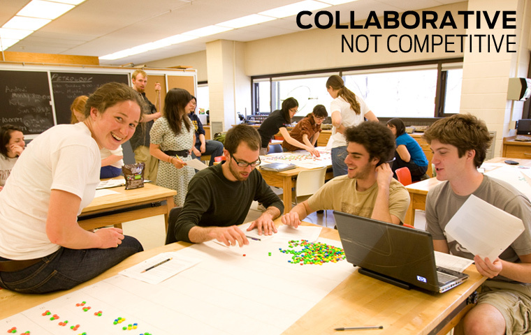 collaborative, not competitive classroom