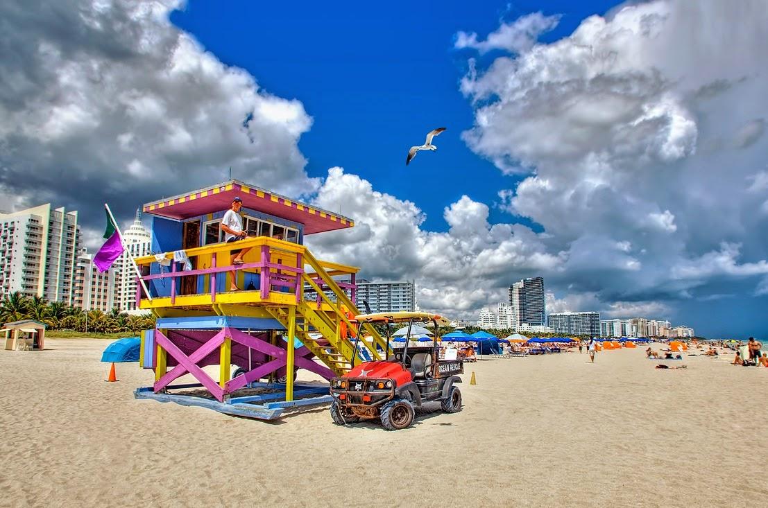 South Beach em Miami Praia