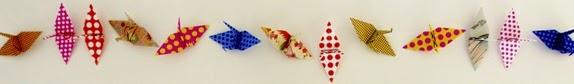 móvil para bebé grulla origami
