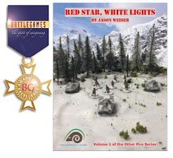 "Battlegames Medal of Excellence for ""Red Star, White Lights"""