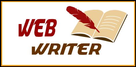 Web writer blogging blog blogger