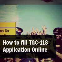 How to fill TGC-118 Online Application Form