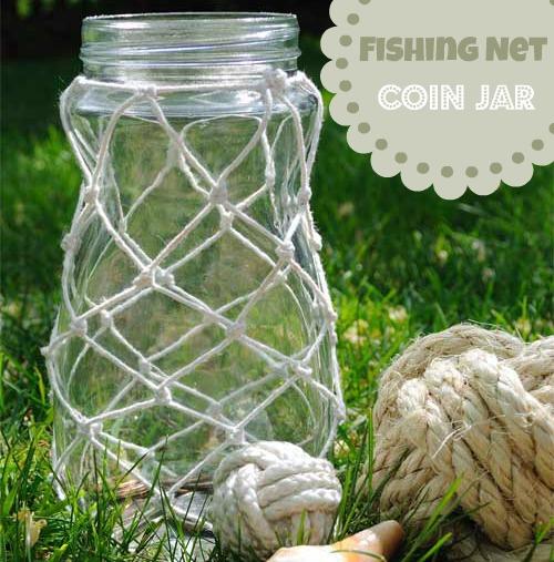 nautical fishing net jar