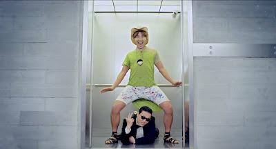 Gangnam style elevator wallpaper