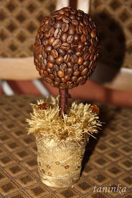 Поделки из кофейных зёрен своими руками дерево 59