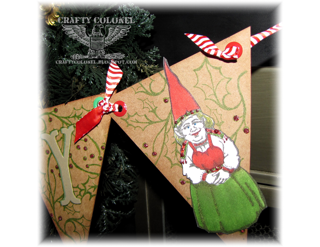 Club Scrap, Crafty Colonel, I'll Be Gnome for Christmas, Banner