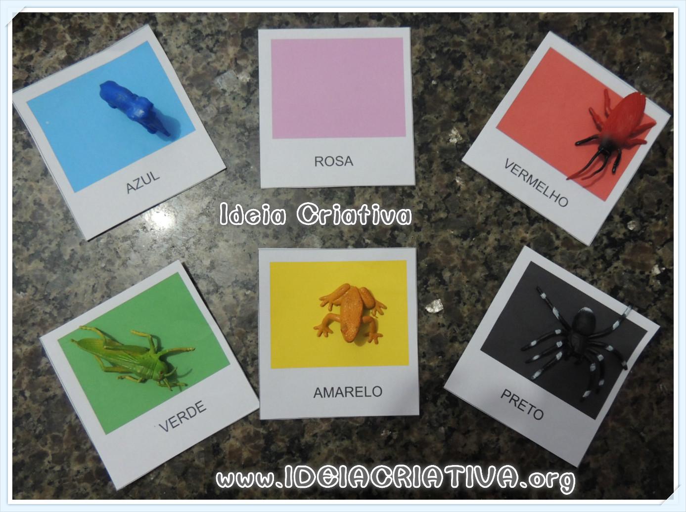 Atividade Cores com Cartões para Impressão