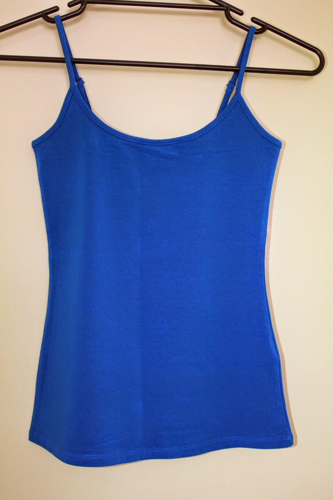 layering, basic blue singlet top