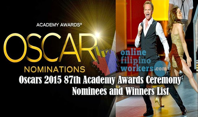 Watch Video Oscars 2015 87th Academy Awards Ceremony Nominees and Winners List
