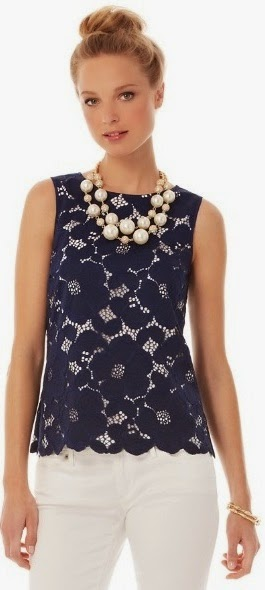 lilly pulitzer iona shell top lace top