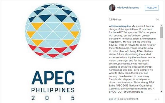 Kris Aquino APEC 2015