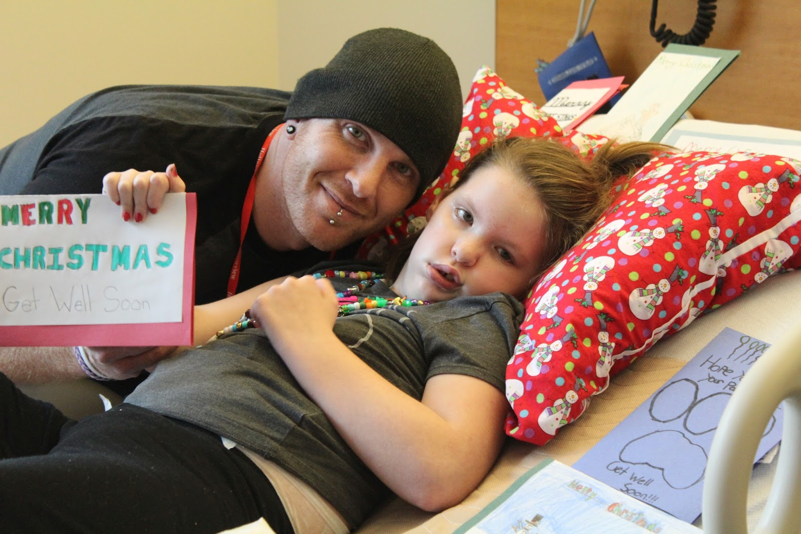 Christmas cards flood in for hospitalized girl ~ Special needs ...
