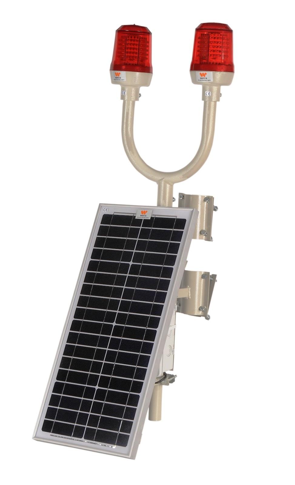 solar enerjili uçak ikaz lambası