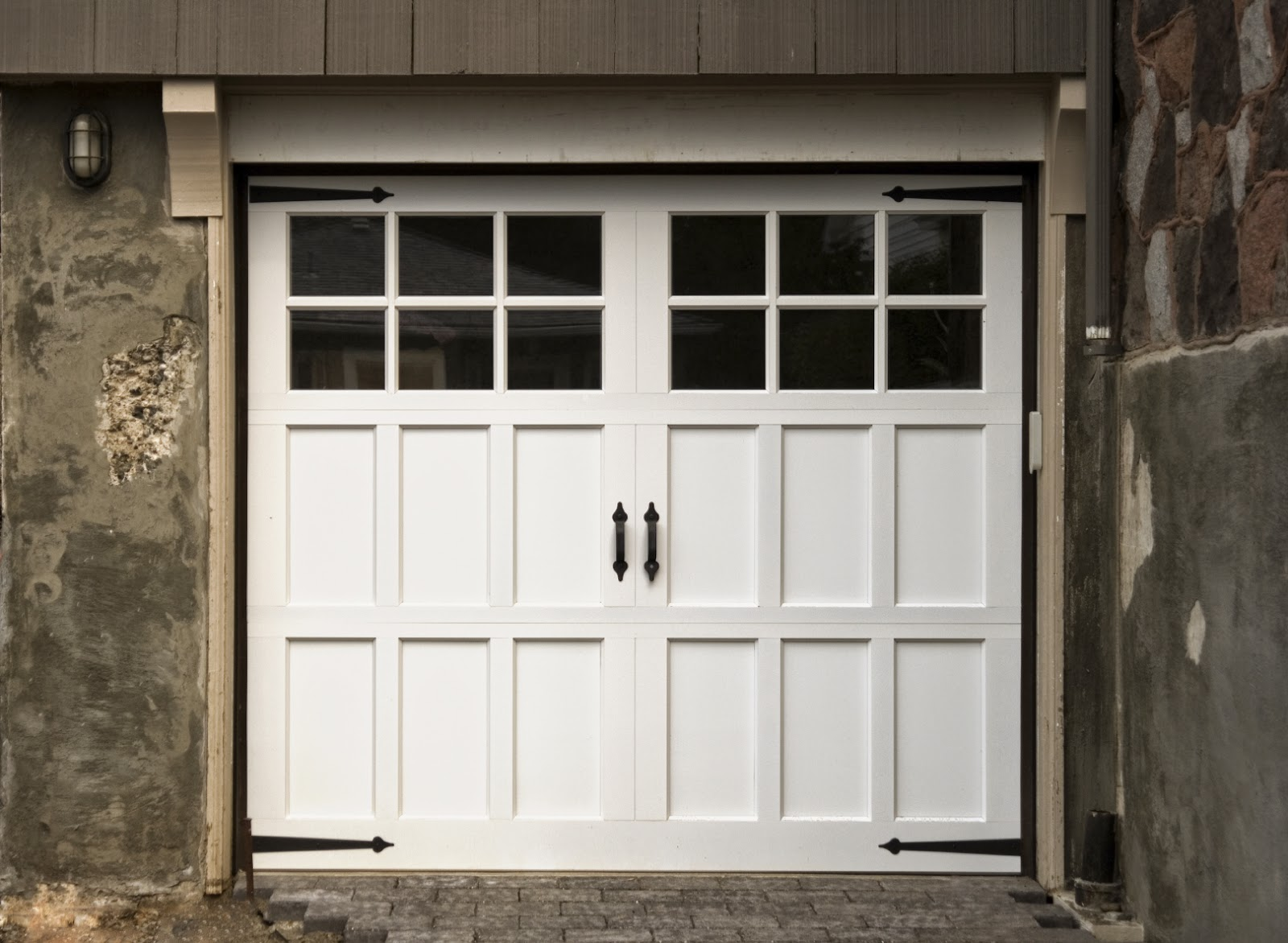 Carriage garage doors - Contemporary Carriage Style Garage Door Yes It Can Be Fitted With An Operator So If You Have The Real Thing Don T Get Rid Of It