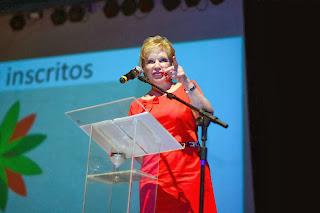 Ministra da cultura,Marta Suplicy,na abertura da III Conferência Nacional de Cultura em Brasília em 27/11/13