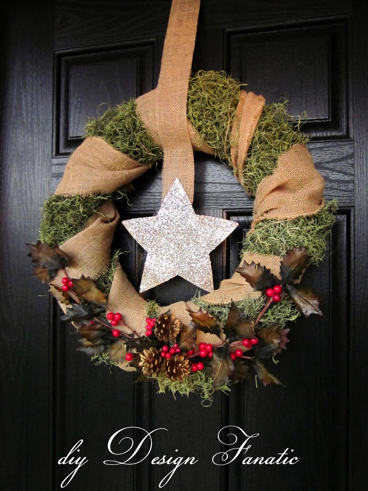 Diy Design Fanatic Christmas Wreath And Front Door