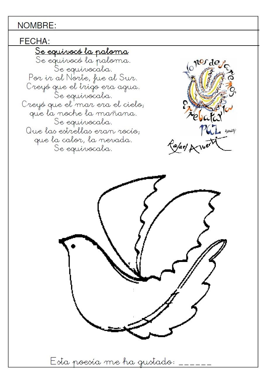 Las palomas de Rafael Alberti: arte, grafomotricidad y poesía para