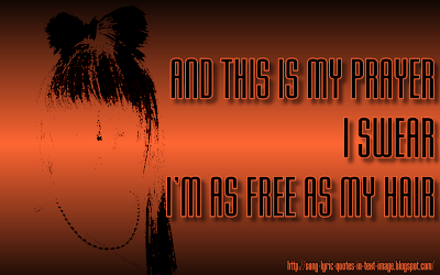 Hair - Lady Gaga Song Lyric Quote in Text Image