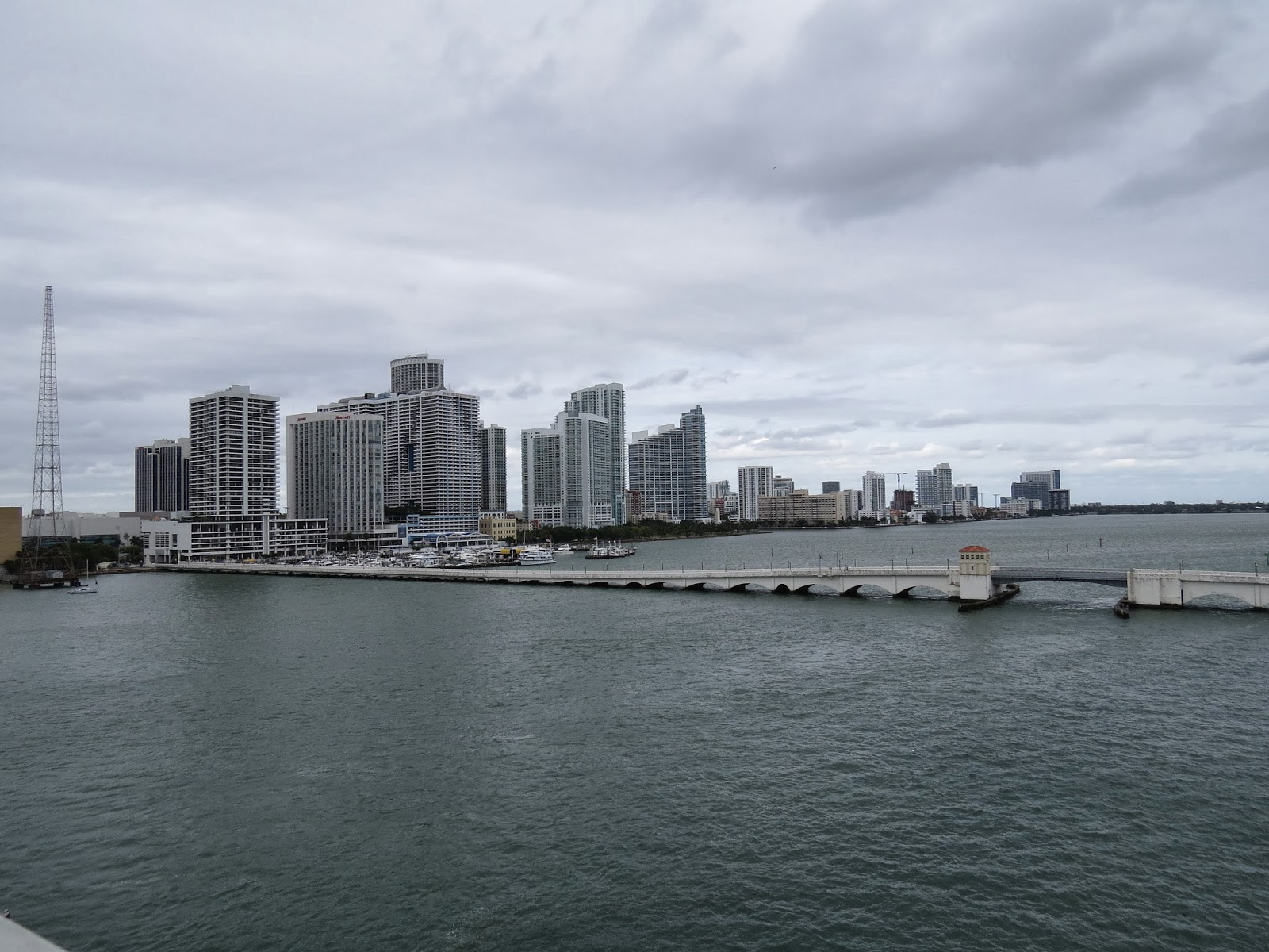 South Beach in Miami, taken from a bridge to Downtown