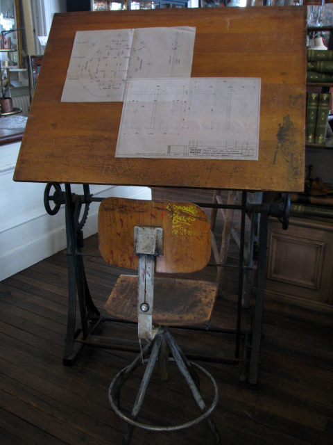 The Drill Hall Emporium New In Store Architect S Table French Industrial Table Plan Drawers