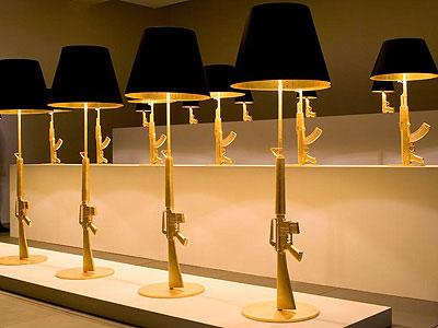 Crazy Lamps evan+elvis: only lights: philipe starck gun lamps