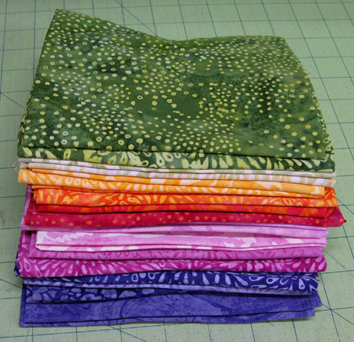 Full Bloom batiks from #IslandBatik