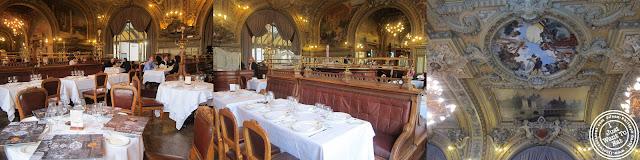 Image of the Dining room of Le Train Bleu in Gare de Lyon Paris, France