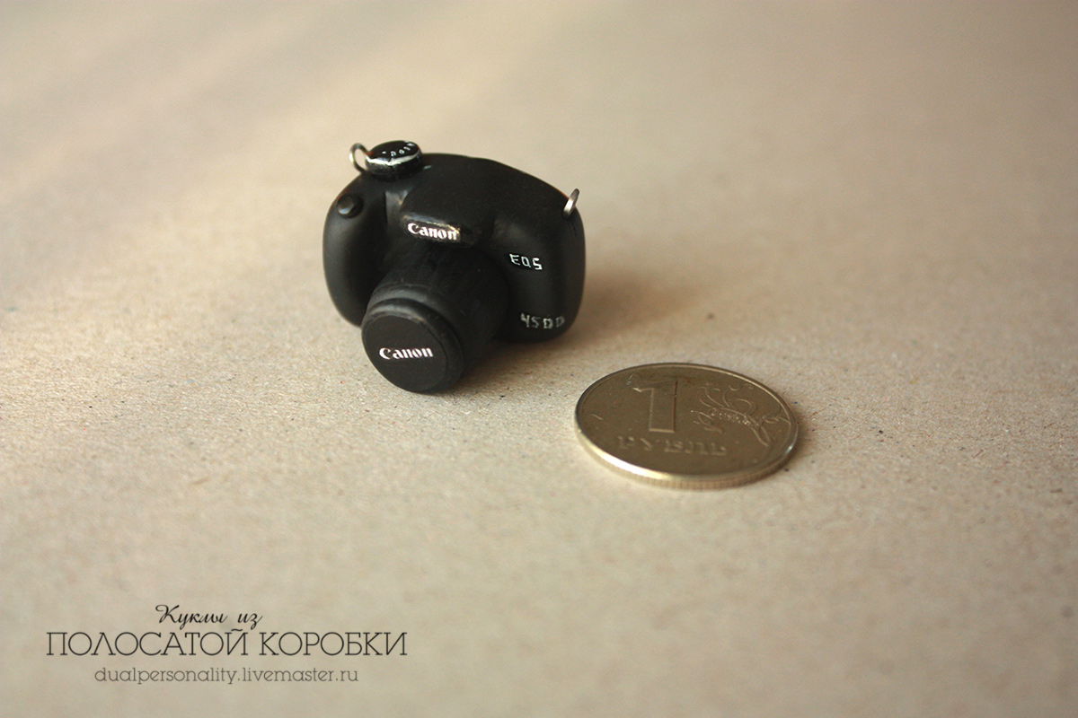 Миниатюрный фотоаппарат для куклы