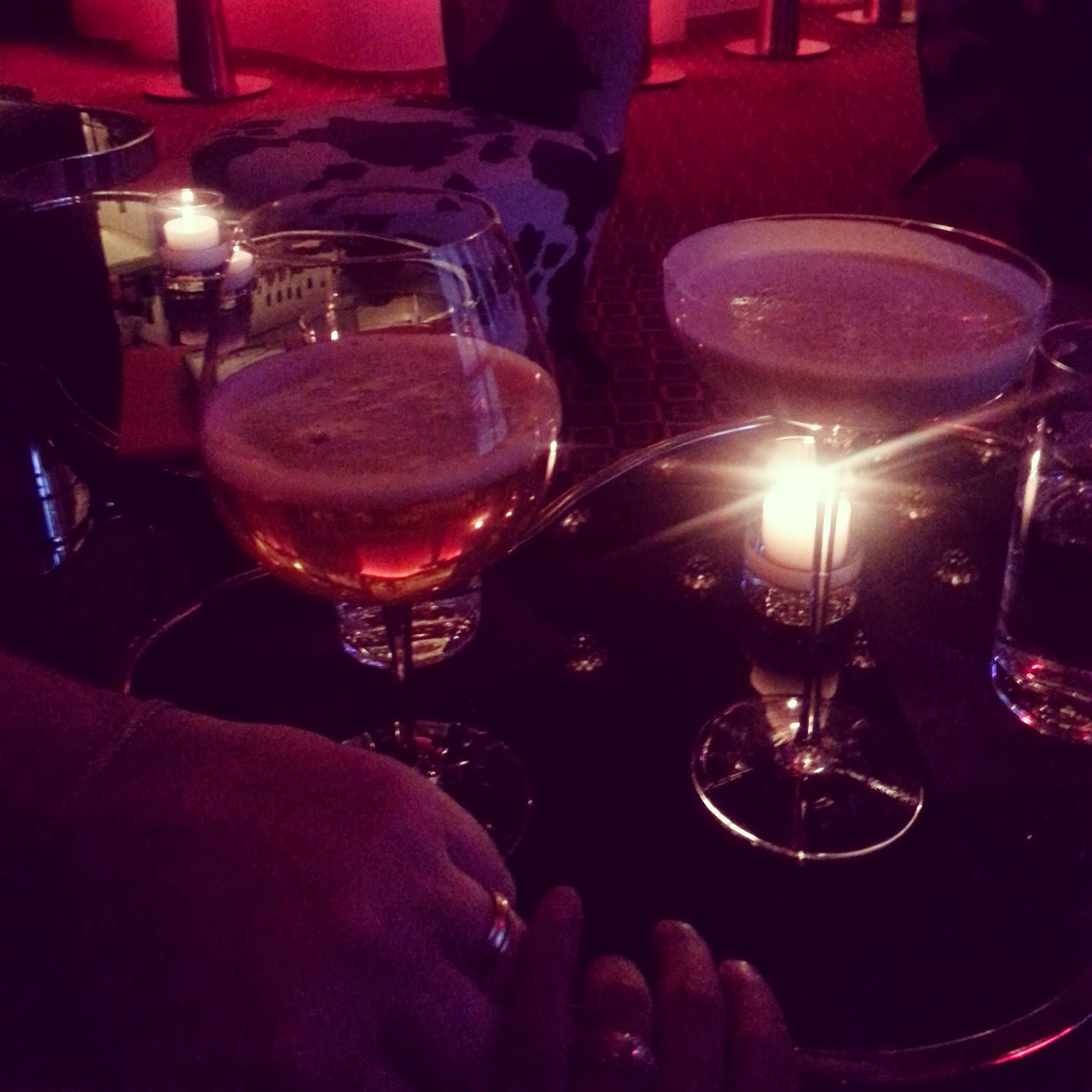 Drinks @ The Mark Hotel  |  Red-eyed revelry on afeathery*nest  |  http://afeatherynest.blospot.com
