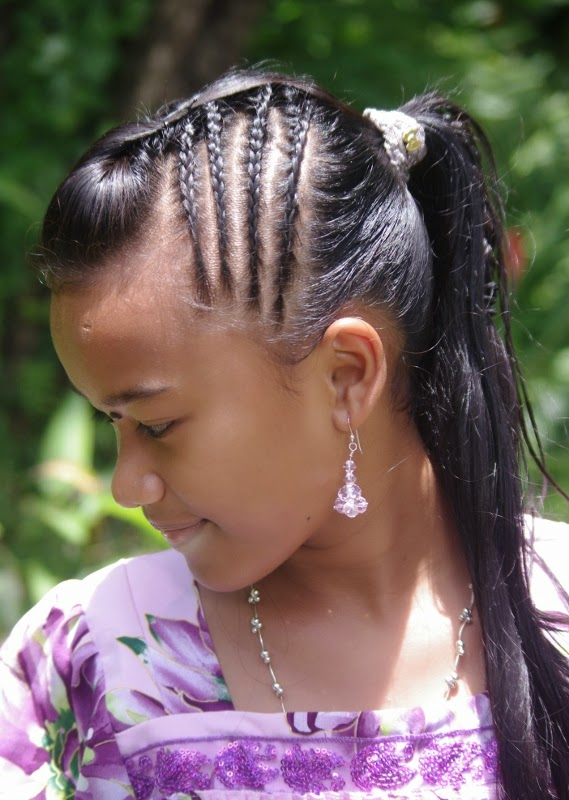 Braids Hairstyles For Super Long Hair Micronesian Girl Multi