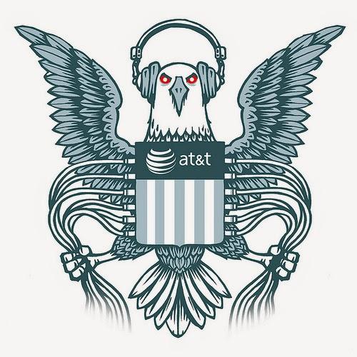 """NSA Eagle"" (Illustration by EFF)"