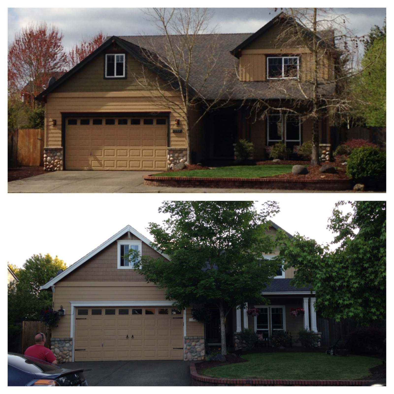inside heather s home craftsman curb appeal before after