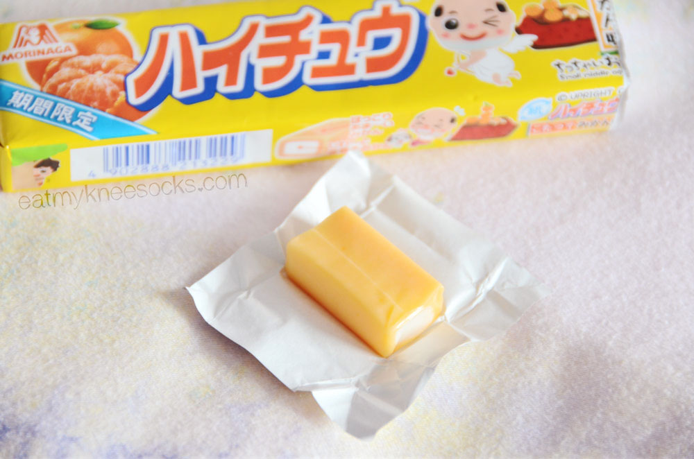 The March 2015 Kawaii Box came with a pack of orange-flavored Hi-Chew candies.