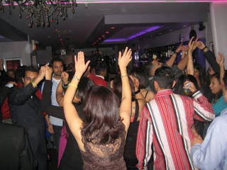 Pakistani wedding celebration dance.