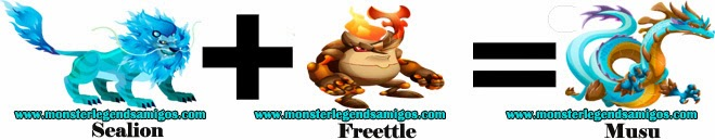 como obtener el monstruo musu en monster legends formula 2