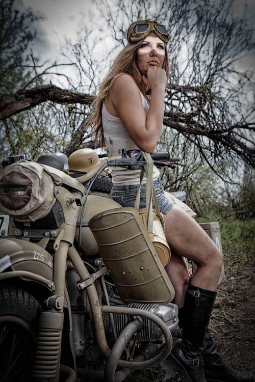 Dave Kelley fotografia mulheres modelos fashion Motoqueira
